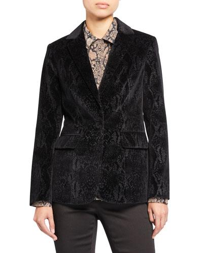 Velvet Python Classic Blazer