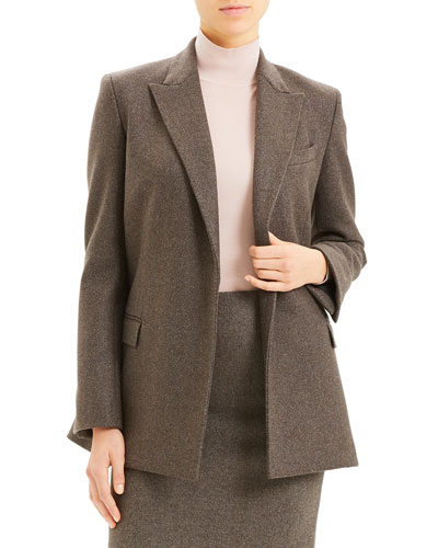 Double-Breasted Cashmere Tweed Blazer