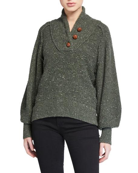 Klark Button-Front Sweater