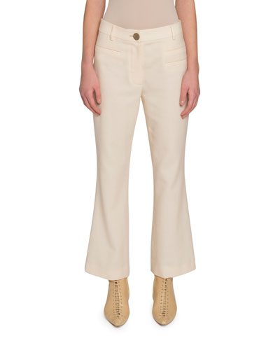 Maeve Flared Wool Trousers