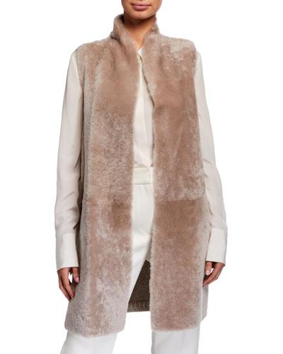 Shearling & Knit Reversible Vest