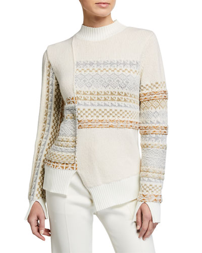Fair Isle Patchwork Pullover Sweater