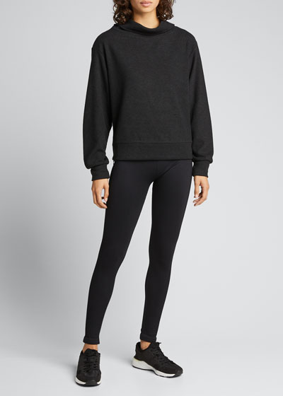 Huntly Cowl-Neck Side-Zip Sweater