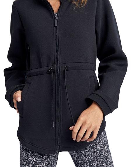 Dahlia Cinched-Waist Hooded Jacket