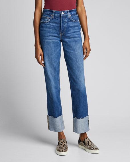 Berit Cuffed High-Rise Straight Jeans