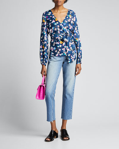 Ginger Floral-Print Wrap Top