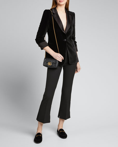 Image 1 of 1: Macey Pleated-Sleeve Fitted Blazer