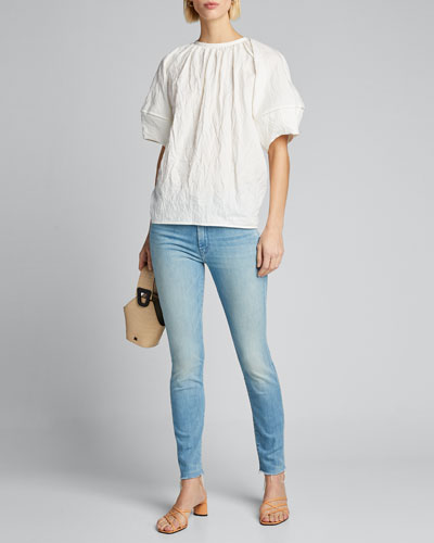The Looker Ankle Fray-Hem Skinny Jeans