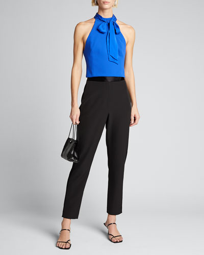 Minna Bow-Neck Crop Top