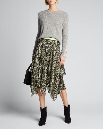 Tarina Layered Handkerchief Midi Skirt