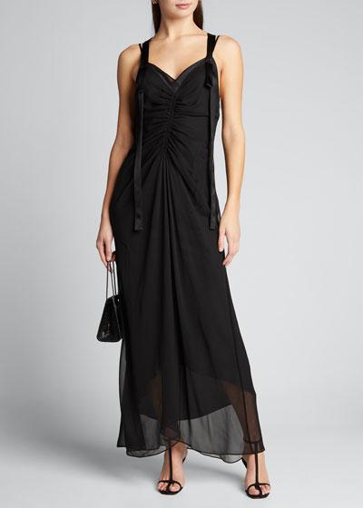 Estelle Strappy V-Neck Slip Dress