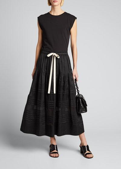 Gigi Drawstring Maxi Skirt