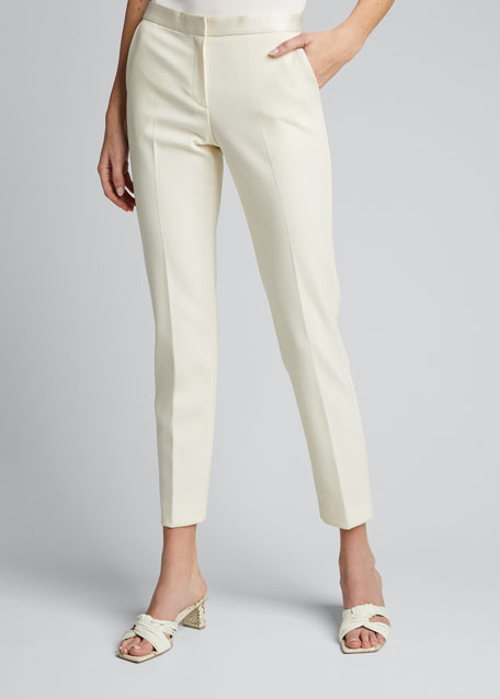 Stretch Wool Tailored Trousers