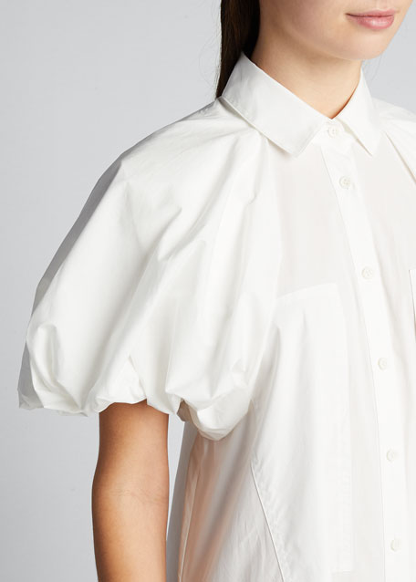 Elsie Puff-Sleeve Maxi Dress