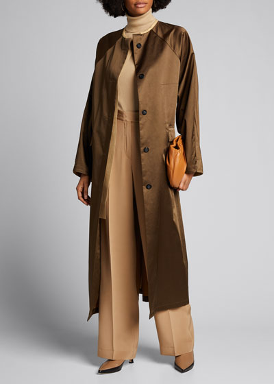 Camel Cargo Pocket Reversible Trench