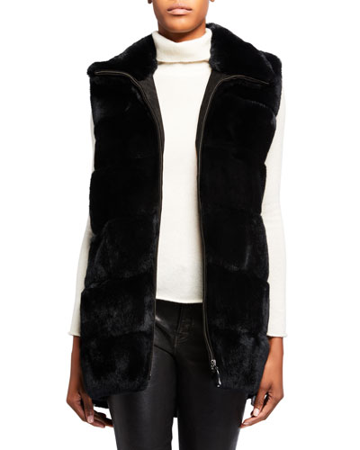 Plush Rabbit Fur Long Vest