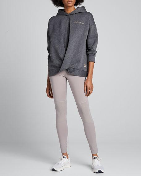 Logo Script Recovery Fleece Wrap-Front Hoodie Sweatshirt