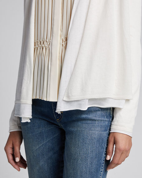 Double Layer Long-Sleeve Cardigan