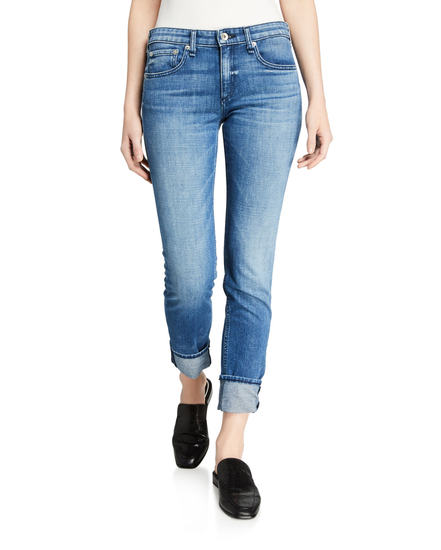 Rag & Bone Jeans Dre Low-Rise Slim Boyfriend Jeans