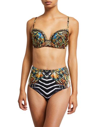 Molded Plunge Bra Bikini Top