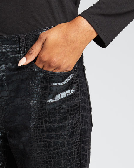 Le High Skinny Croc Ankle Jeans