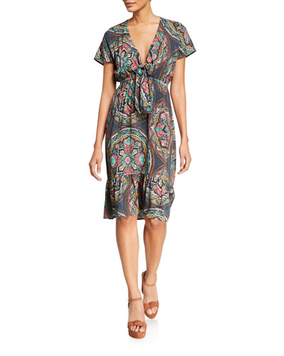 Spezia Tie-Front Coverup Dress