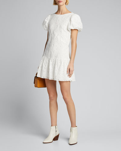 Elodie Embroidered Mini Dress