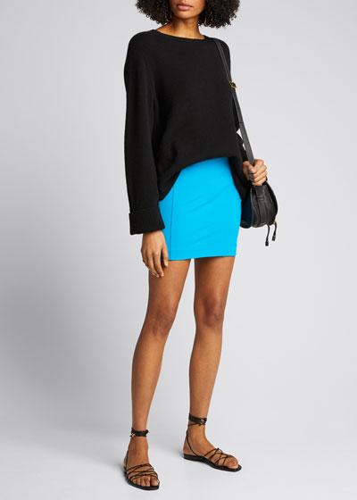 Malibu Stretch-Jersey Mini Skirt