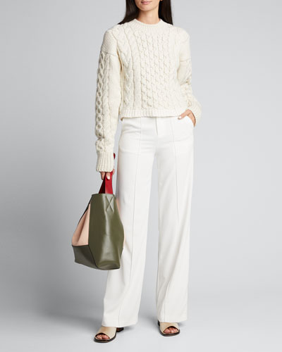 Cable Mix Wool Sweater