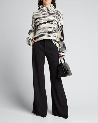 High-Neck Marled Sweater