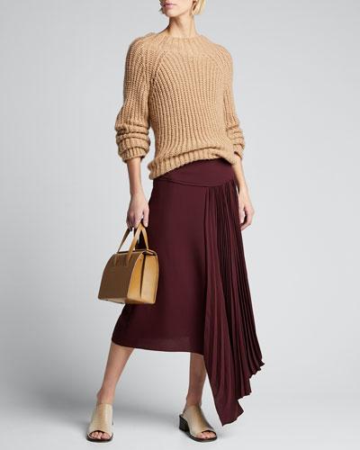 Selma Asymmetrical Silk Crepe Skirt