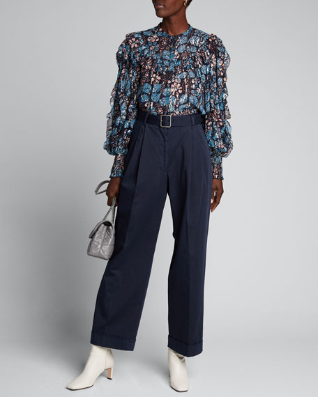 Isadora Printed Button Down Blouse by Ulla Johnson