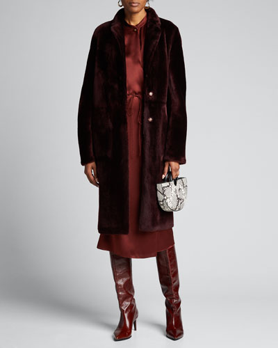 Long Lamb Shearling Coat