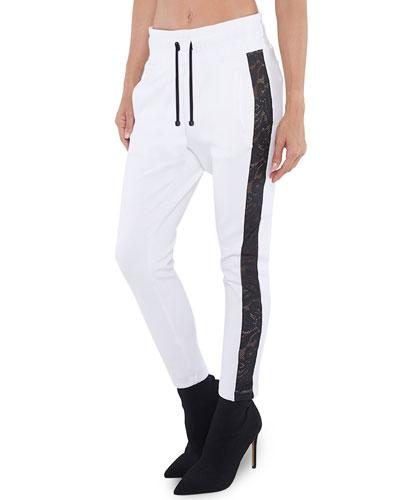Zone Scuba Sweatpants w/ Lace Side Panels