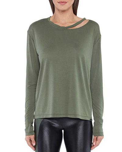 Defend Cupro Plus Long-Sleeve T-Shirt w/ Cutout Detail