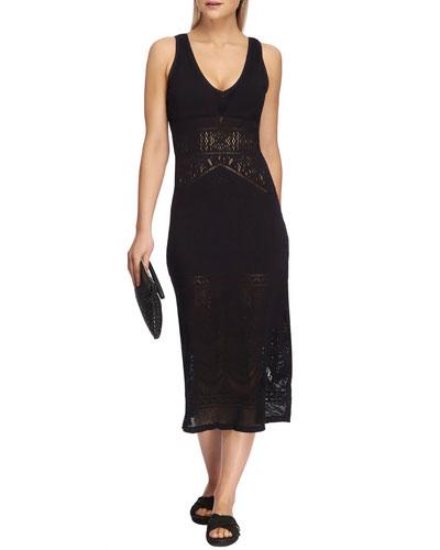 Sleeveless Long Lace Midi Dress