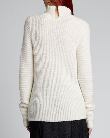 Ghost High-Neck Ribbed Sweater