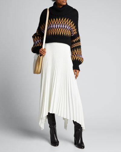 Tracey Intarsia Turtleneck Sweater