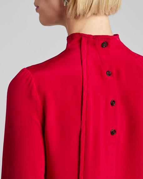 Fixture Button-Back Silk Top