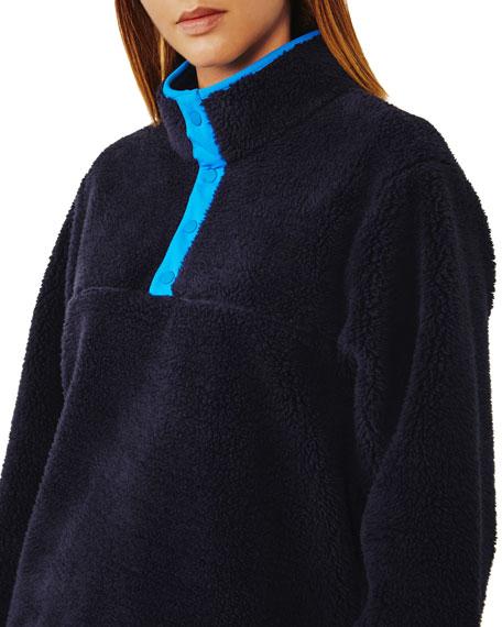 Sherpa Fleece Snap Front Jacket