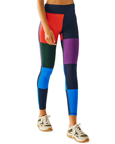Colorblocked Full-Length Leggings