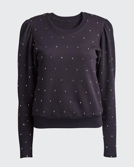 Saunders Embellished Crewneck Sweatshirt