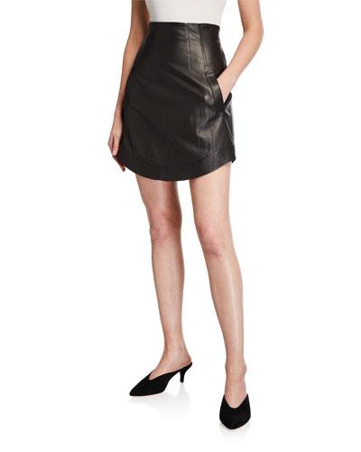 Reggie Leather Short Skirt