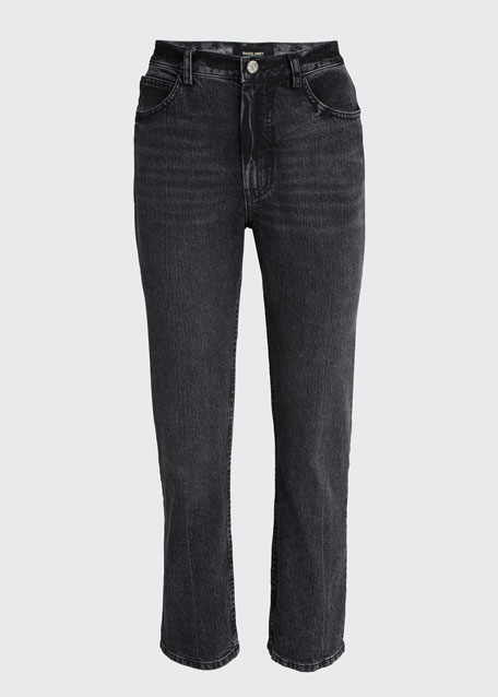 New Norm Straight-Leg Cropped Jeans