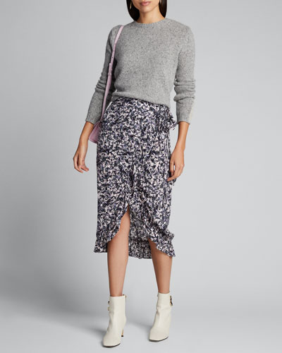 Palmer Printed Wrap Midi Skirt