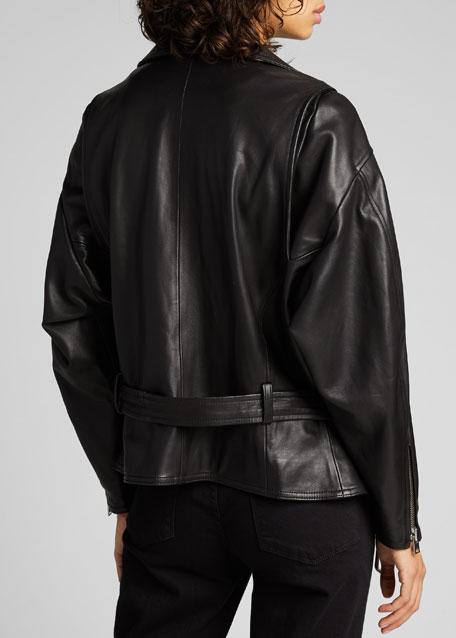 Ikem Leather Moto Jacket