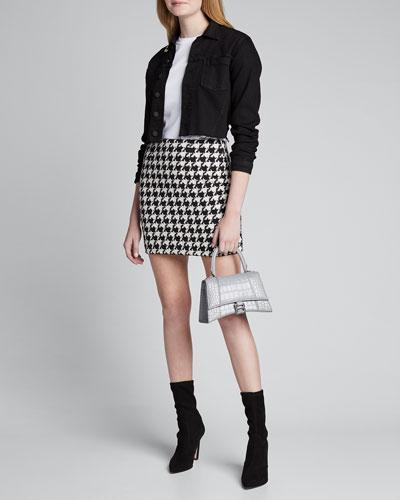 Livia Houndstooth Mini Skirt