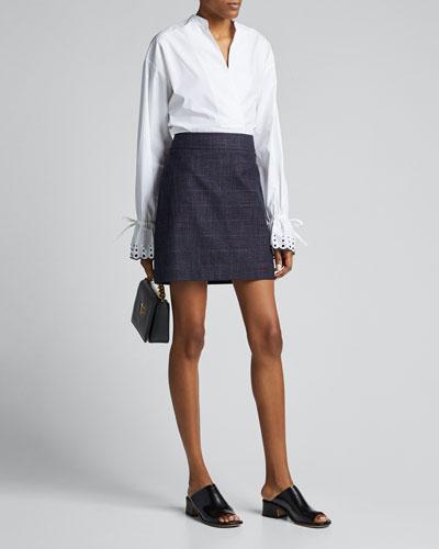 Patterned Mini Skirt