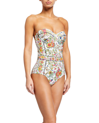 Floral-Print Underwire One-Piece Swimsuit