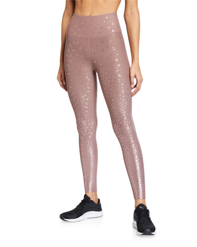 Ombre Foiled Active Leggings - Inclusive Sizing